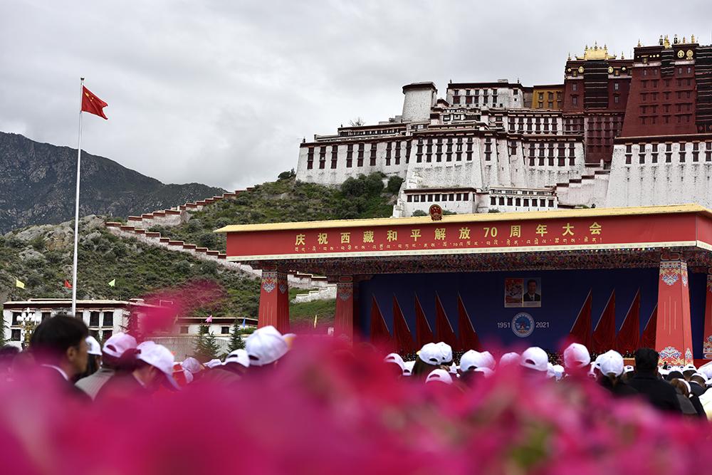 【中央代表团在西藏】同庆祝 共奋斗