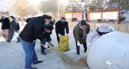 色拉寺管委会:开展环保活动 共建美丽寺庙