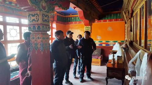 日喀则市萨嘎县委常委、统战部部长巴多一行到努贡寺、土庆寺督导检查工作