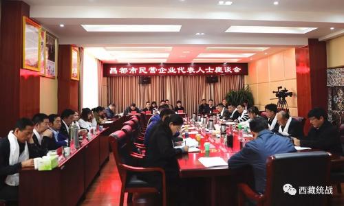 昌都市召開民營企業代表人士座談會