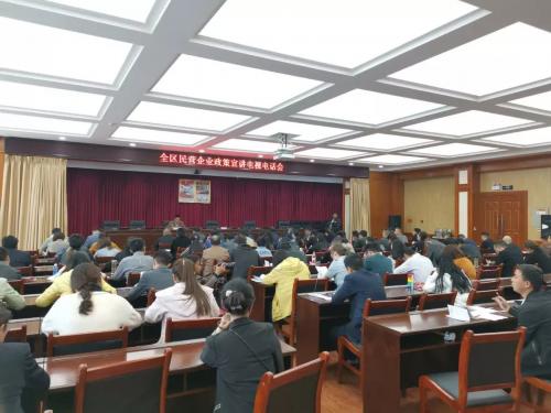 區工商聯舉辦民營企業政策宣講電視電話會