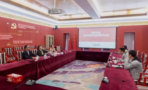 西藏自治區工商聯黨組成員、副主席兼秘書長張蓉赴拉薩市和美布達拉文化創意發展有限公司調研指導工作