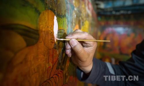 修舊如舊,扎什倫布寺進行壁畫修復工作
