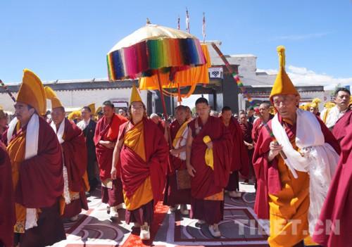 十一世班禅在扎什伦布寺举行佛事活动