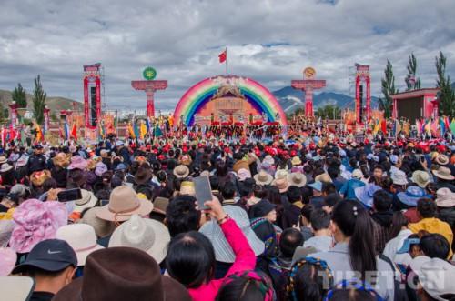"""2019 西藏""""中国农民丰收节""""暨扎囊县氆氇文化节开幕"""