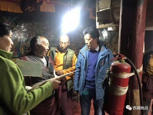 定日县委常委、统战部部长普琼次仁赴寺管会检查指导工作
