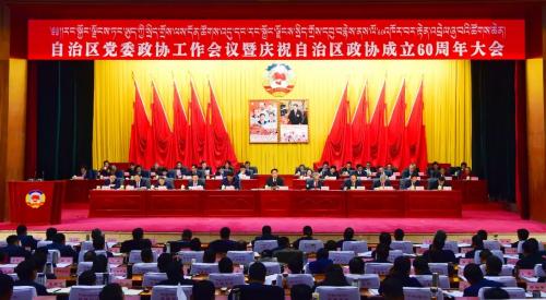 自治区党委政协工作会议暨庆祝自治区政协成立60周年大会召开