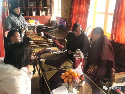 拉薩市婦聯赴墨竹工卡縣曲龍寺開展調研慰問活動