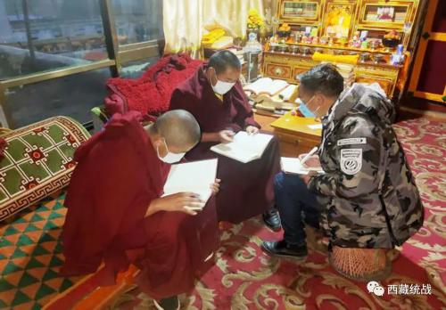 乃東區扎西多卡寺管會多措并舉有效推進疫情防控和僧尼學習教育工作