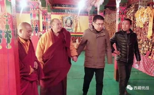 貢覺縣縣級領導深入開展寺廟、宗教界代表人士聯系聯絡工作
