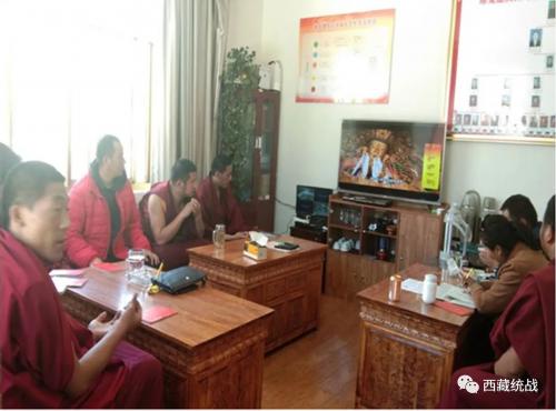 拉薩市堆龍德慶區覺木龍寺組織僧人開展藏傳佛教活佛轉世政策集中宣講活動