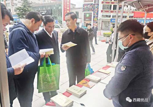 """林芝市委统战部积极参加""""综治宣传周""""集中宣传活动"""