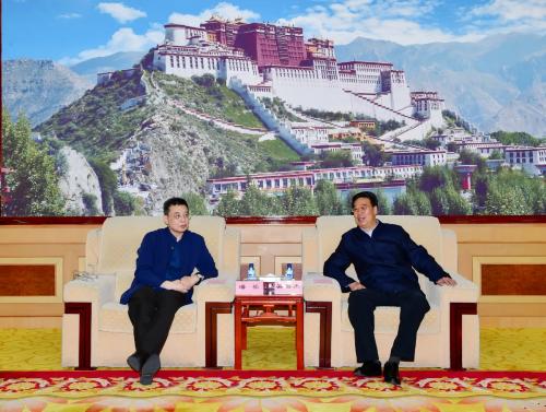 吳英杰齊扎拉與中央社會主義學院黨組書記潘岳座談