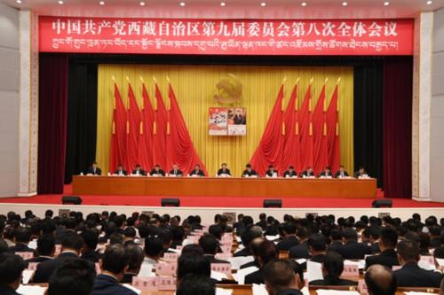 西藏自治区党委九届八次全会举行