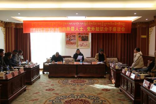 拉萨市城关区召开新的社会阶层人士 党外知识分子座谈会