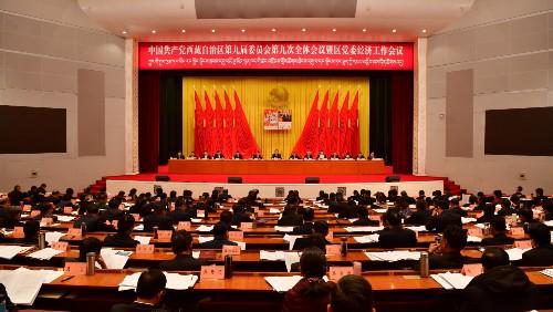 自治区党委九届九次全会暨区党委经济工作会议在拉萨举行