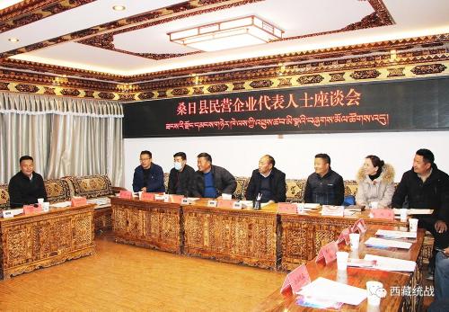 山南市桑日县召开民营企业代表人士座谈会