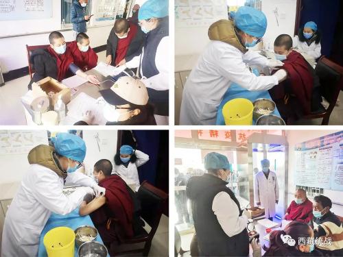 拉萨市堆龙德庆区有序组织僧尼接种新冠疫苗