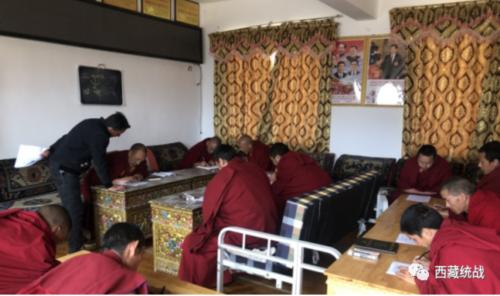 昌都市洛隆县各寺庙管委会积极组织开展法制宣传教育及法律知识考试