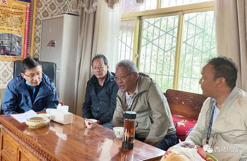 拉萨市委常委、统战部部长,市政协党组书记阿努次仁赴堆龙德庆区达扎寺督导检查