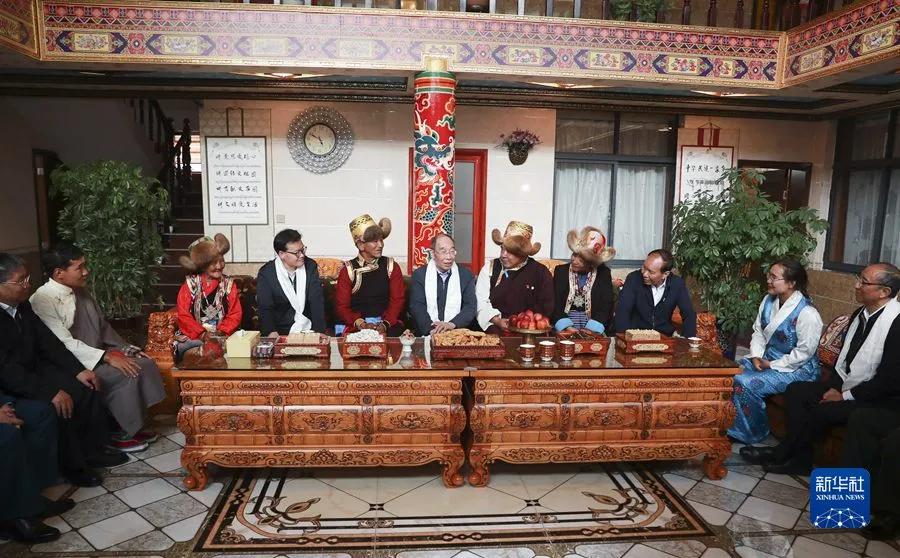 【西藏和平解放70周年】中央代表团山南、日喀则分团来了!
