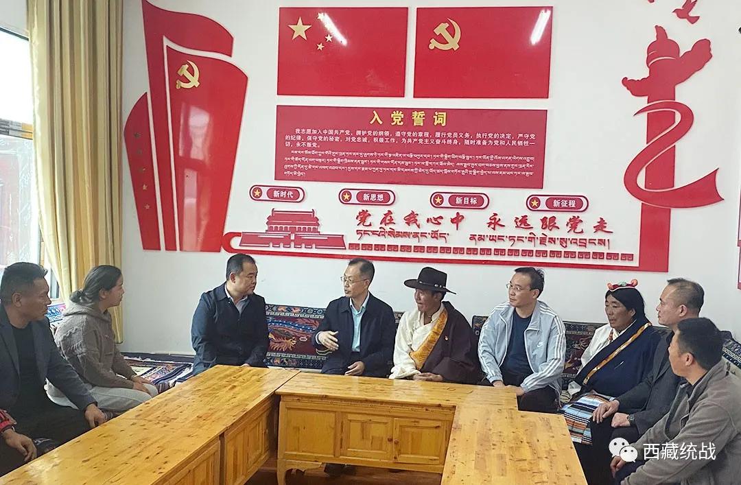 天津市民族和宗教事务委员会副主任元绍峰赴丁青县开展调研慰问工作