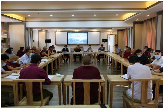 """高级佛学院举行""""新旧西藏对比教育""""专题座谈会"""